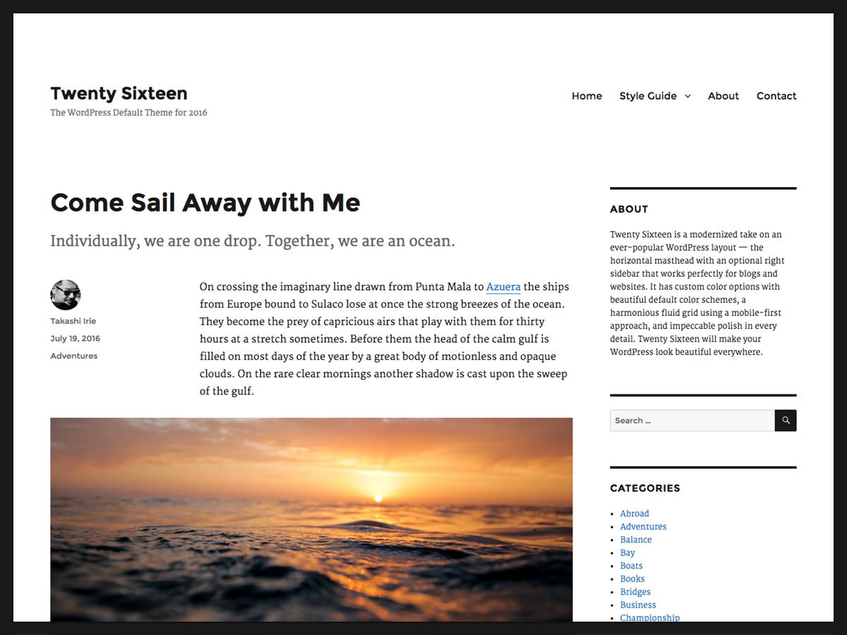 dh blog theme