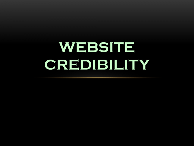 website-credibility
