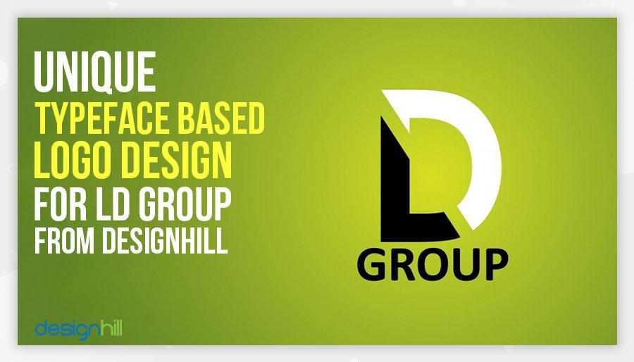 Unique typeface based logo design for ld group from designhill for Design lago