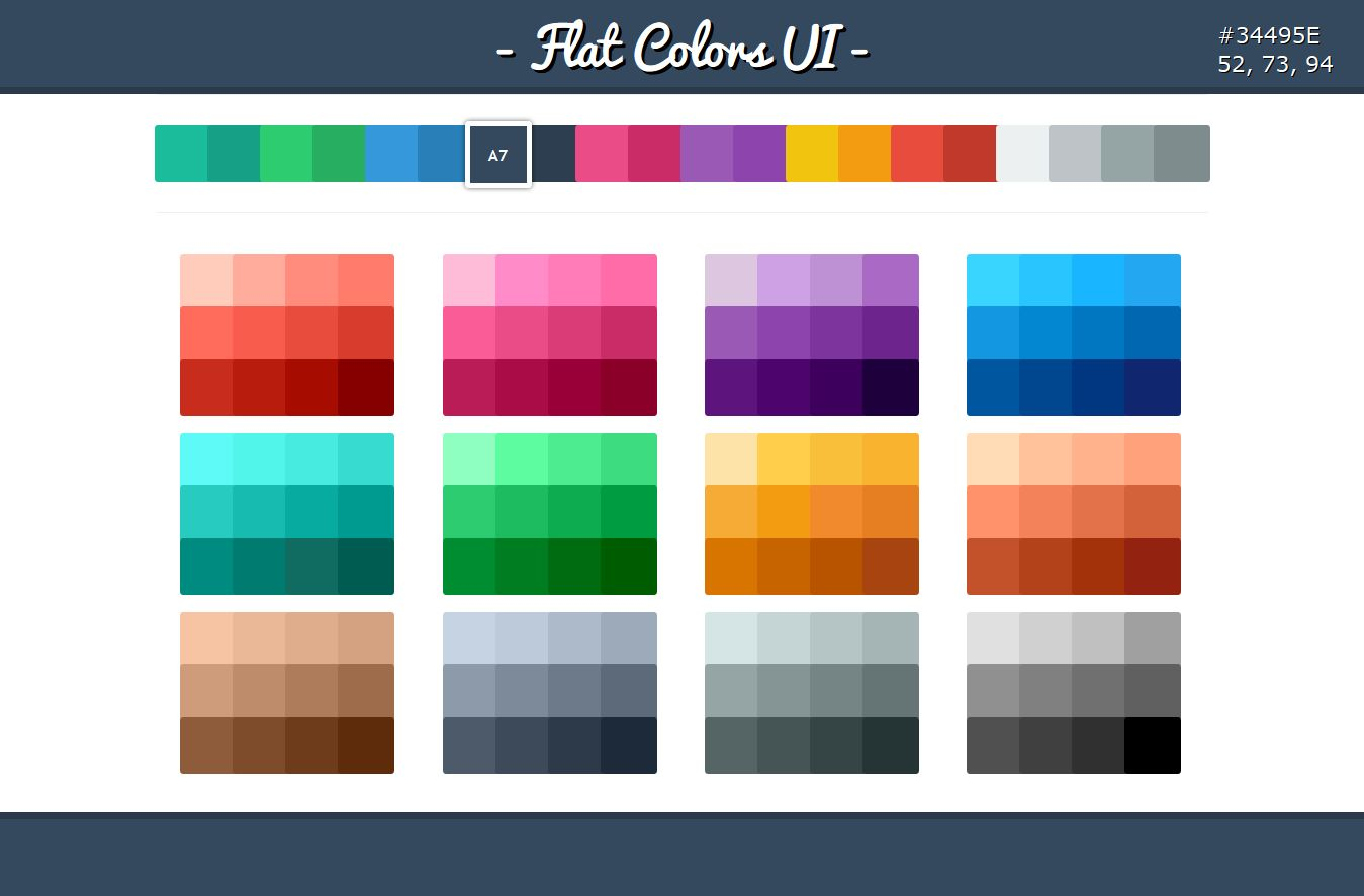Is flat ui design color more professional designhill for Flat design pictures