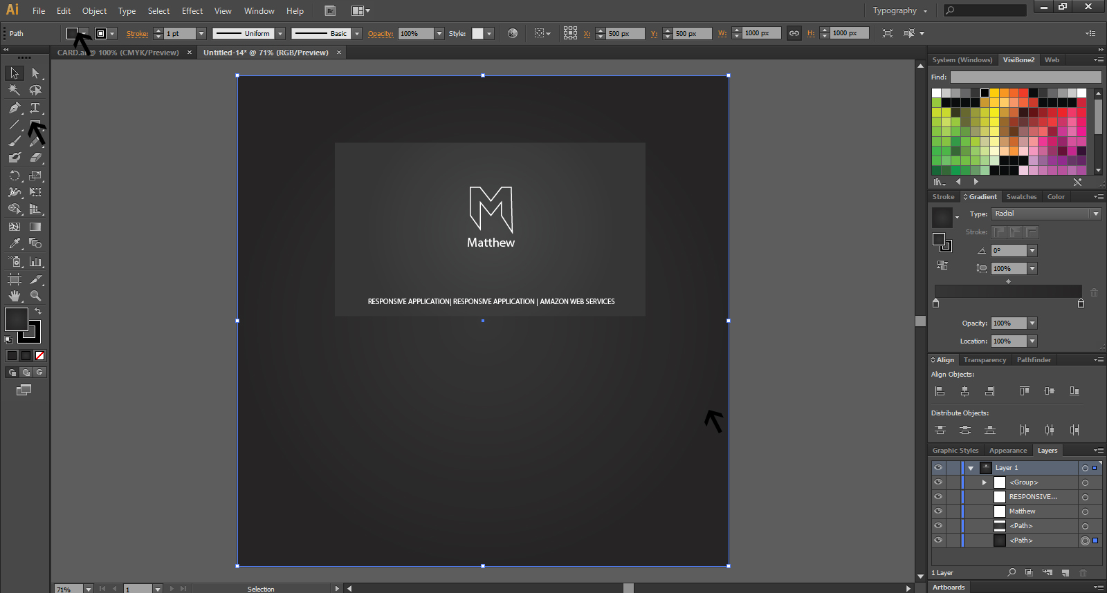 How To Create A Business Card Design In Illustrator