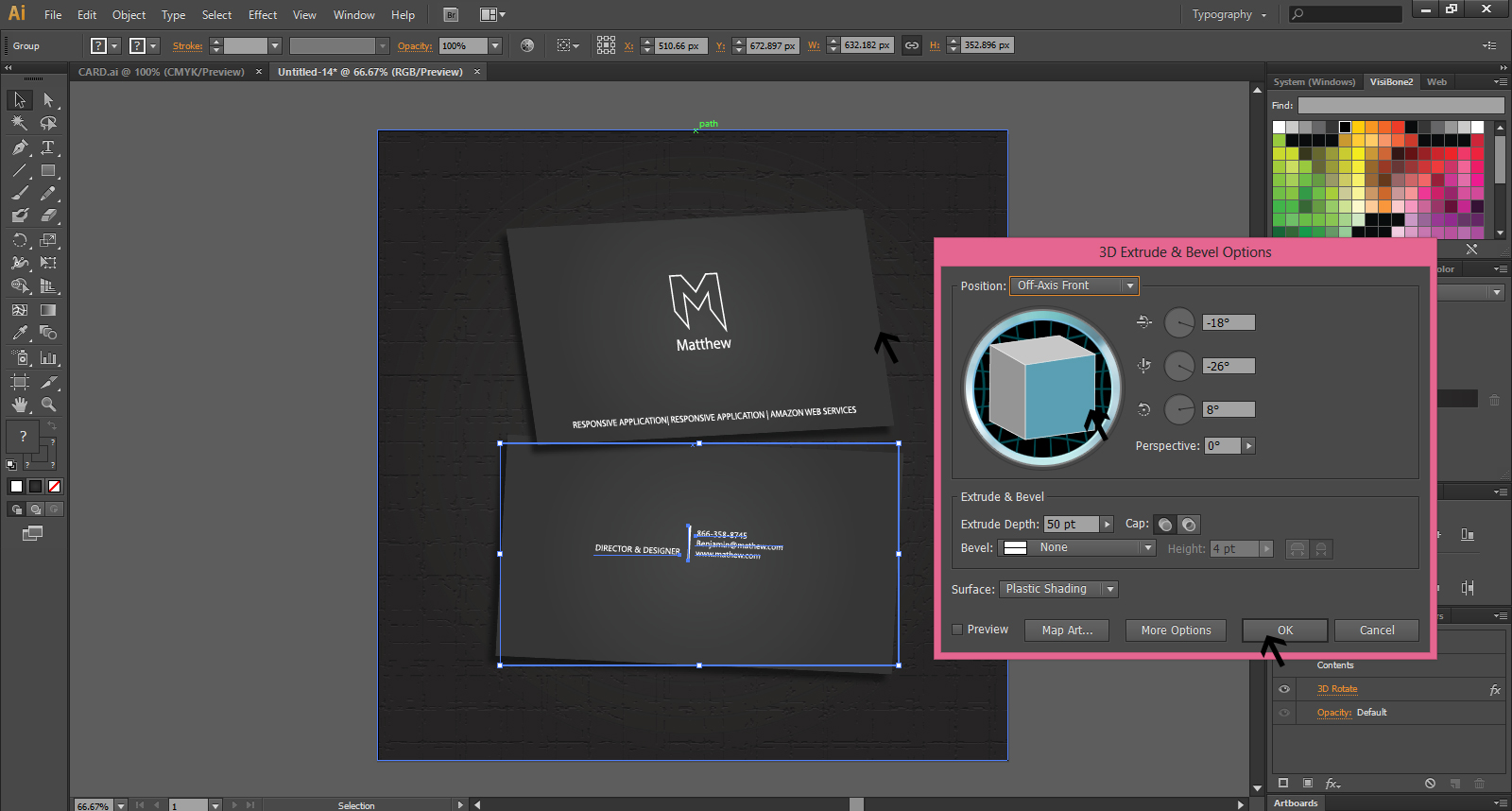 Create A Business Card Design in Illustrator