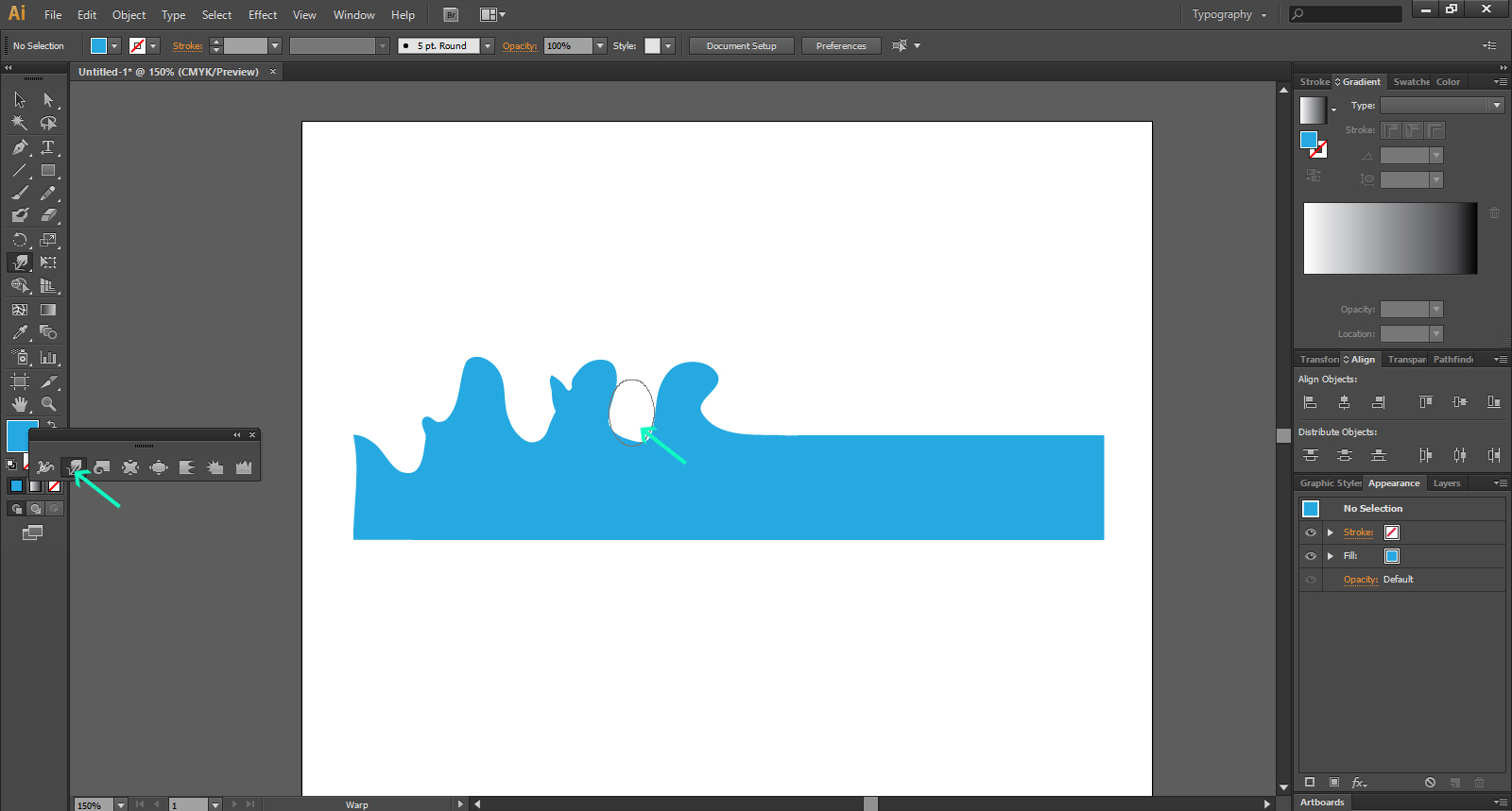 Illustrator's Warp Tools