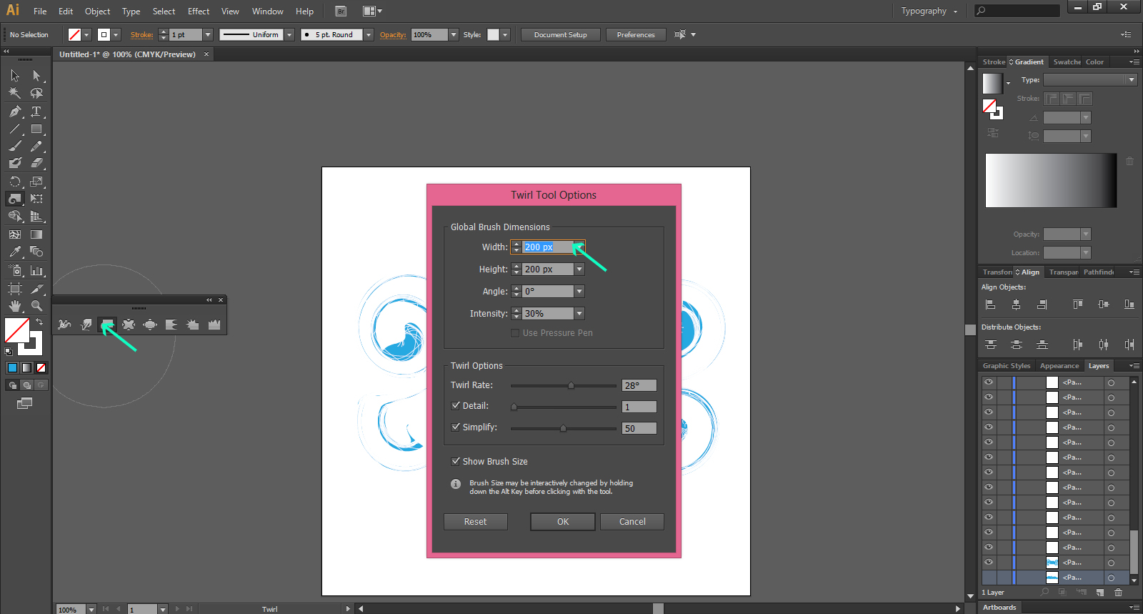 Illustrator's Warp Tools