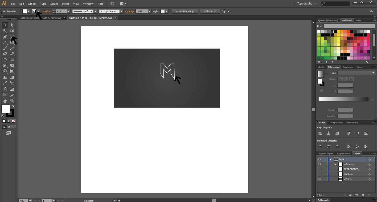 Create A Business Card Design In Illustrator