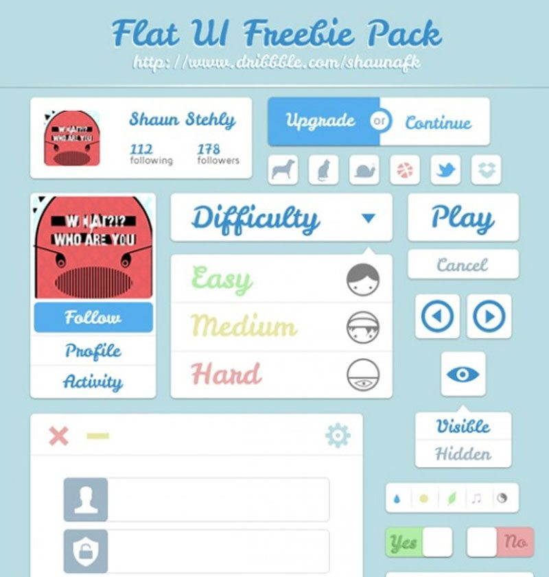 Free UI Kits Freebie