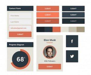 Flat UI Kit – Free Download