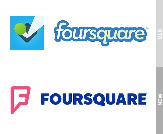Logo Redesign of Fourquare