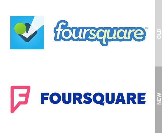 Logo Redesign of Fourquare