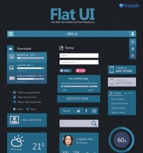 Free Deal Flat User Interface Set