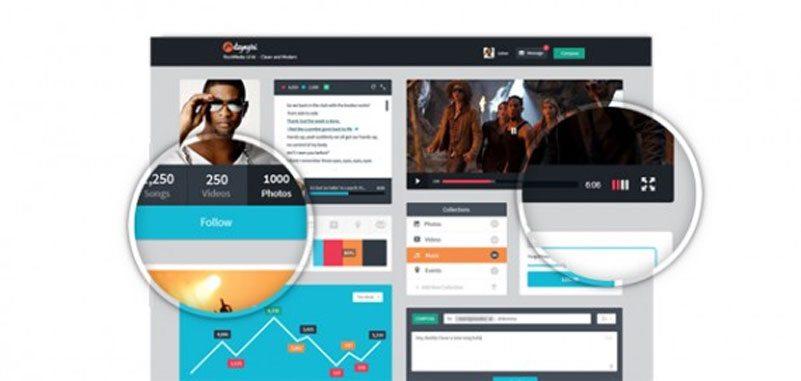 Free RockMedia Media UI Kits