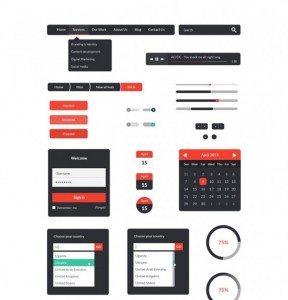 Freebie UI Kit PSD