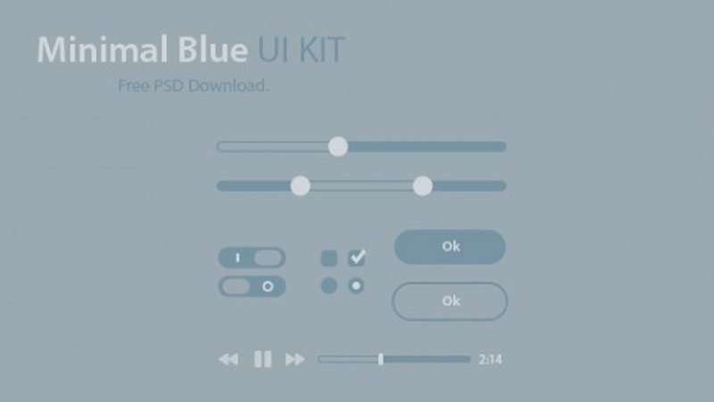 Minimal Blue UI Kit