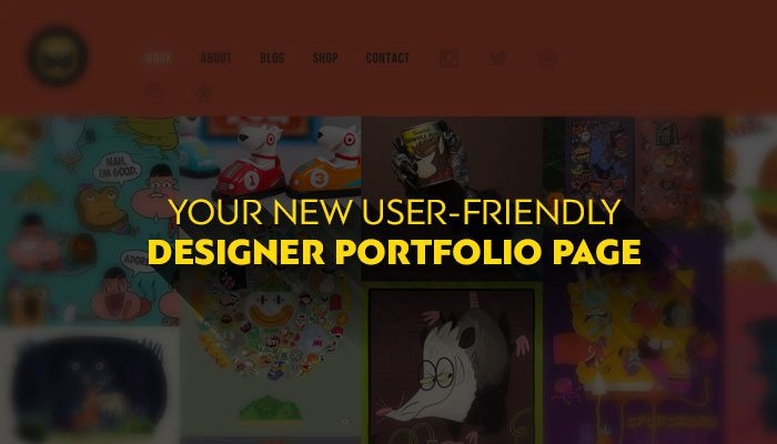 New User-Friendly Designer Portfolio
