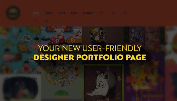 New User-Friendly Designer Portfolio