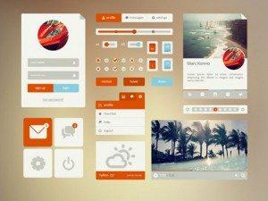 Orange Cyan UI