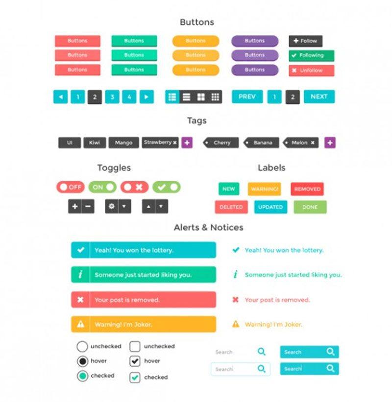 SmoothBerry – Free UI Kit