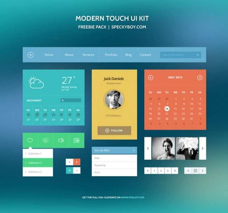 The Free Modern Touch UI Kit