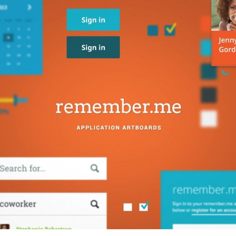 remember.me – Application Free Flat UI Kits