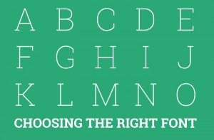 Right Fonts in Designing
