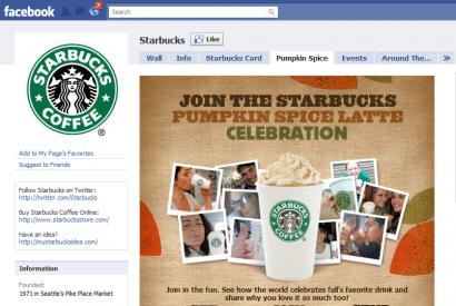 Starbucks Facebook Landing Page