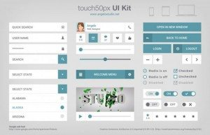 touch50px UI Kits (PSD)