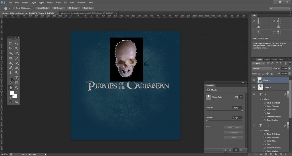 Step -12 (Pirates Of Caribbean Movie Logo )