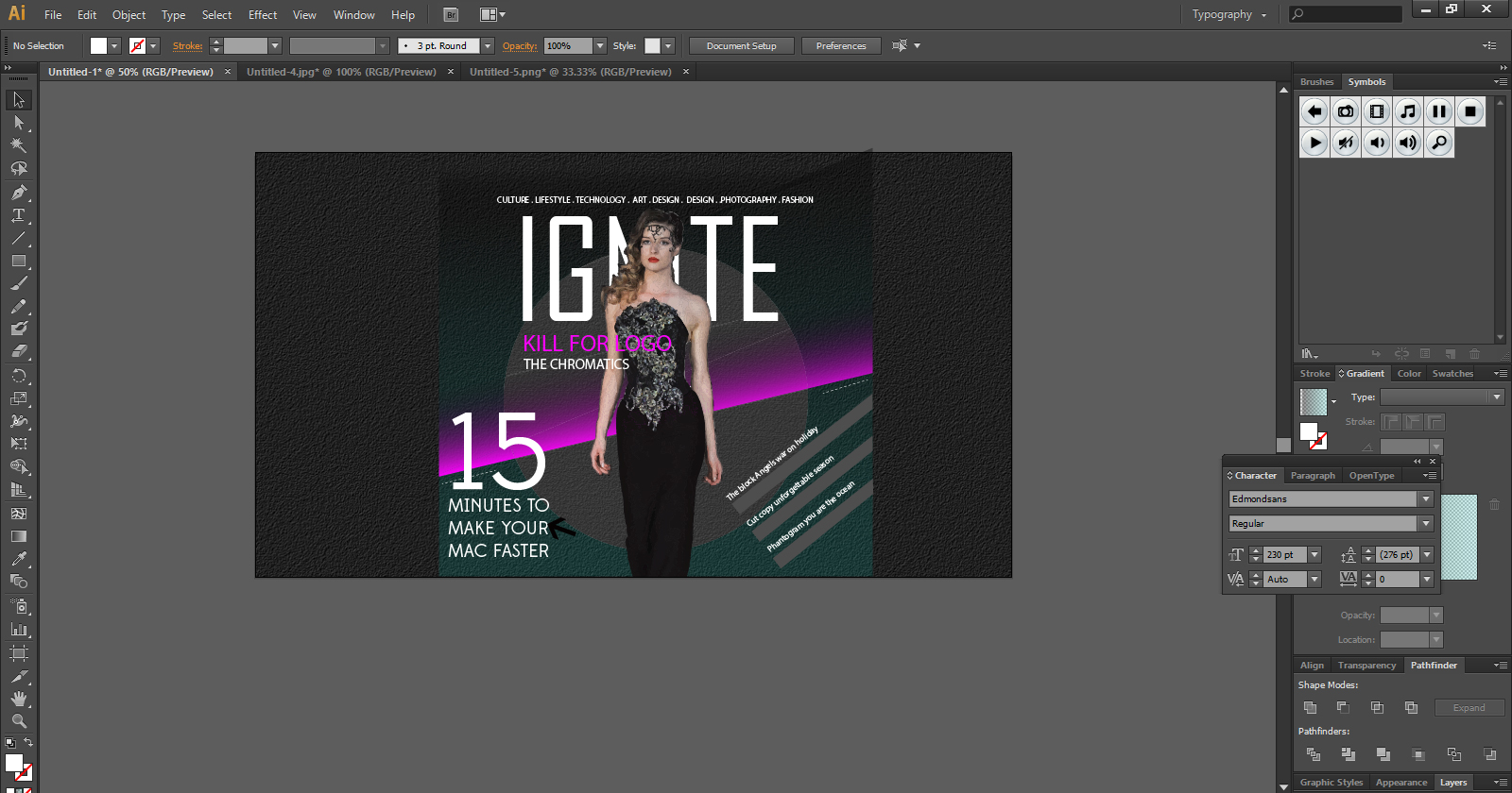 magazine cover step 13