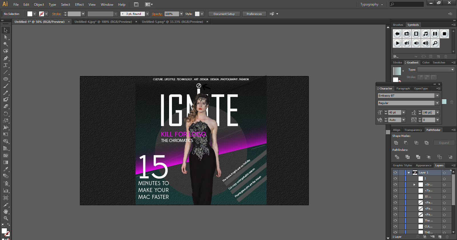 magazine cover step 14