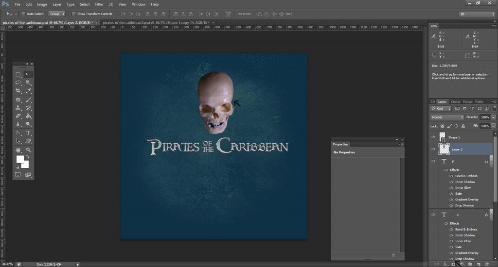 Step -14 (Pirates Of Caribbean Movie Logo )