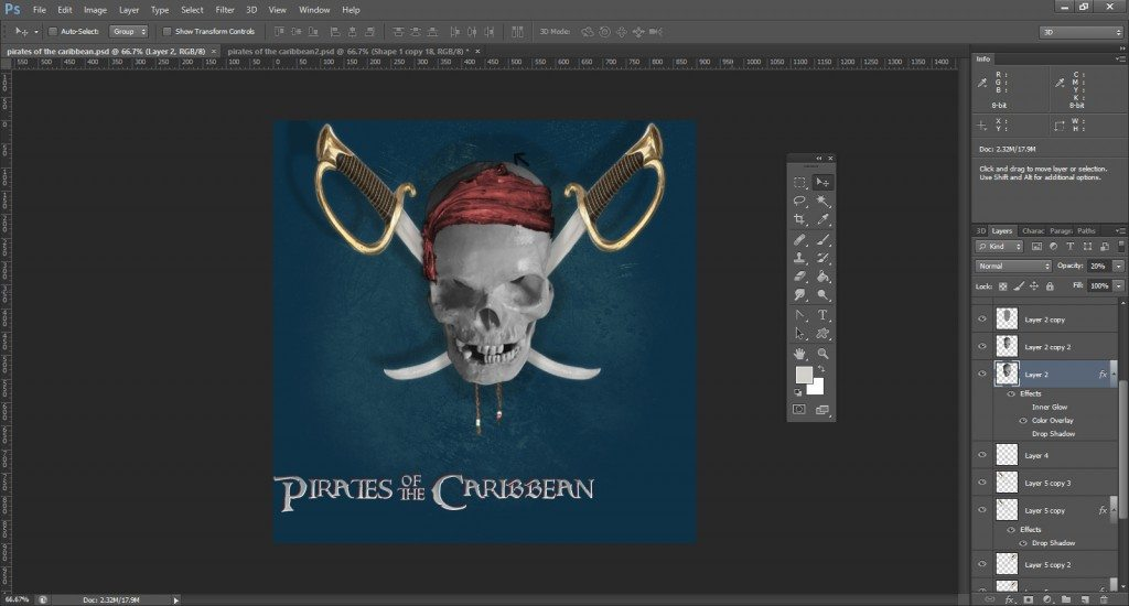 Step -21 (Pirates Of Caribbean Movie Logo )