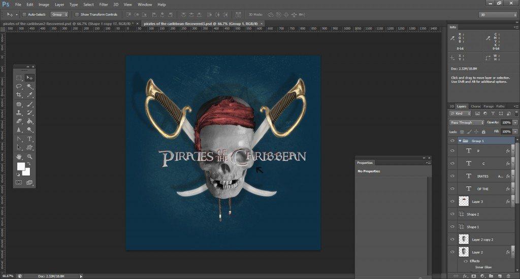Step -22 (Pirates Of Caribbean Movie Logo )