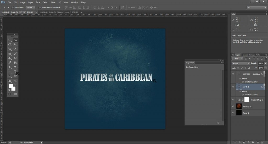 Step -5 (Pirates Of Caribbean Movie Logo )