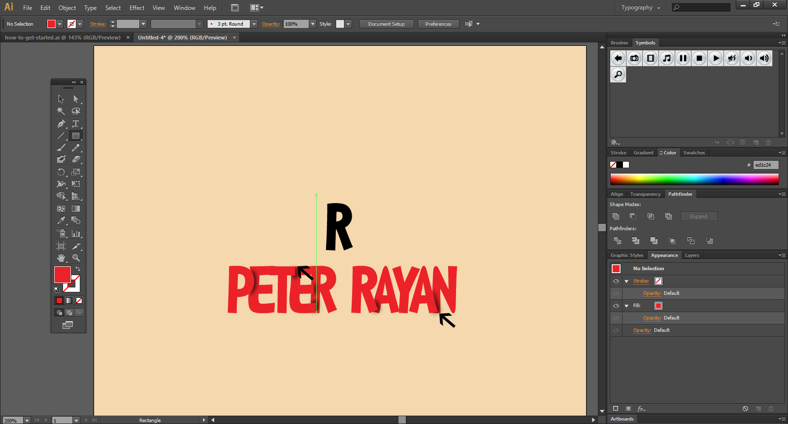 simple steps to add Text In Illustrator