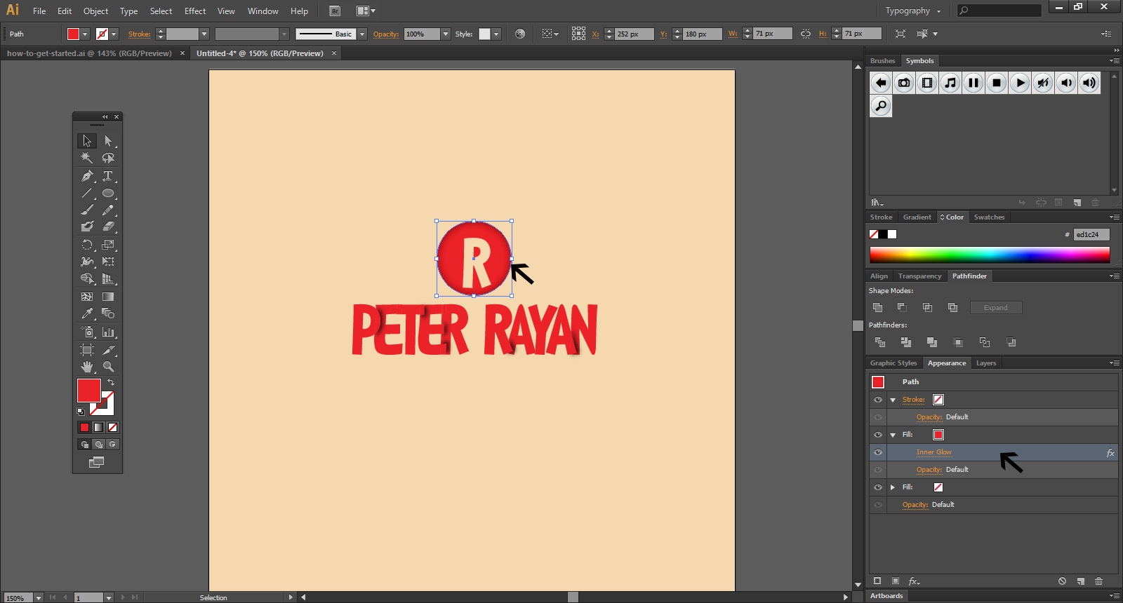 steps to add Text In Illustrator