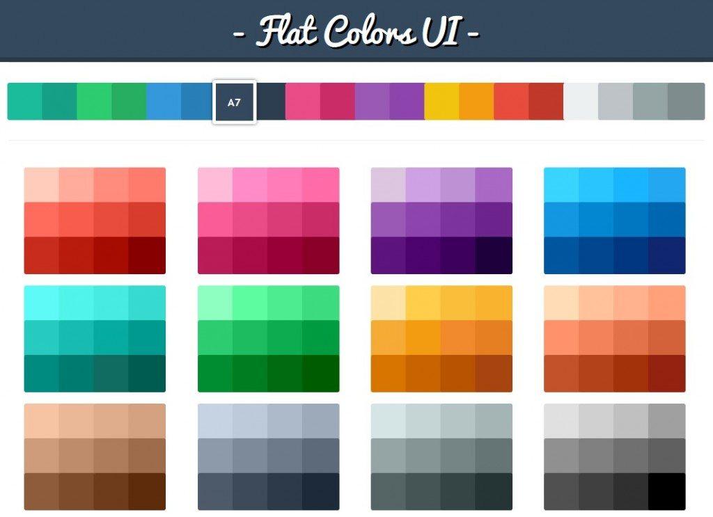 Flat Color UI