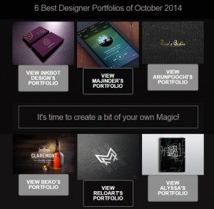 Top 6 Designer Portfolios of October 2014