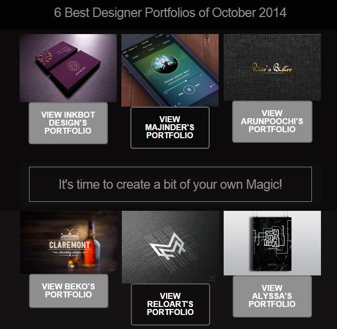 Top 6 Designer Portfolios of October 2014