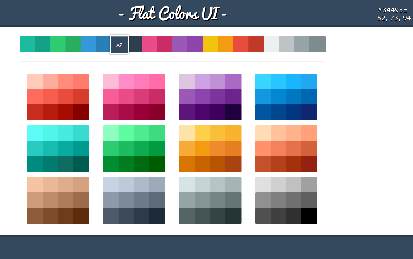 Flat design colors graphic trend for Modern flat design