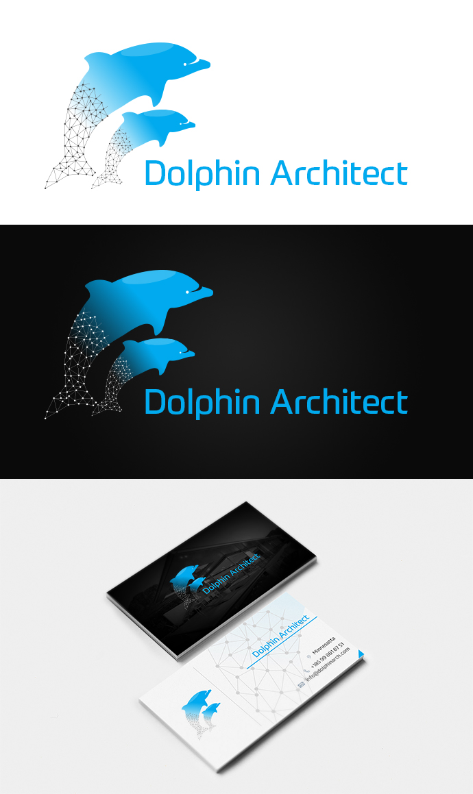 Dolphin architects acquire logo and business card design winning entry shows that how a simple and elegant design is what is liked by the most of the clients the logo and business card design was as per the colourmoves
