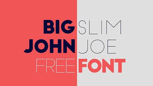 Big John Graphic Design Fonts