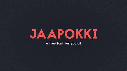 Jaapokki Graphic Design Fonts