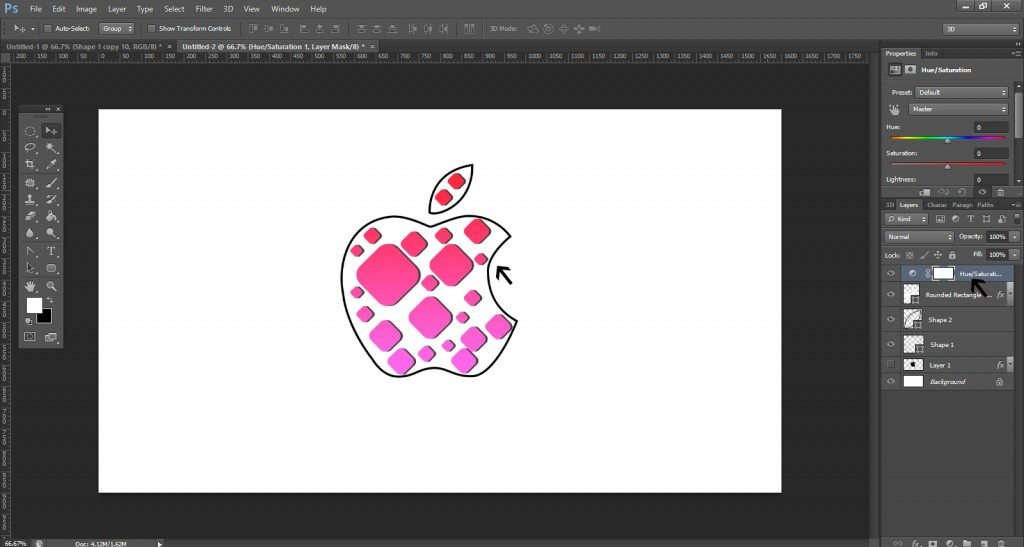 Step- 11 (Step to Create Apple Logo)