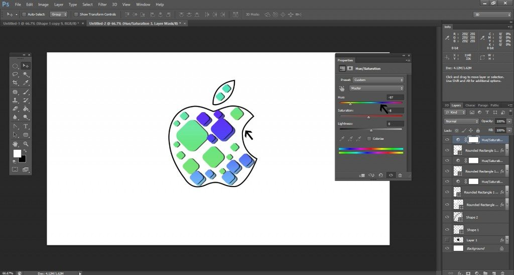 Step- 12 (Step to Create Apple Logo in Photoshop)