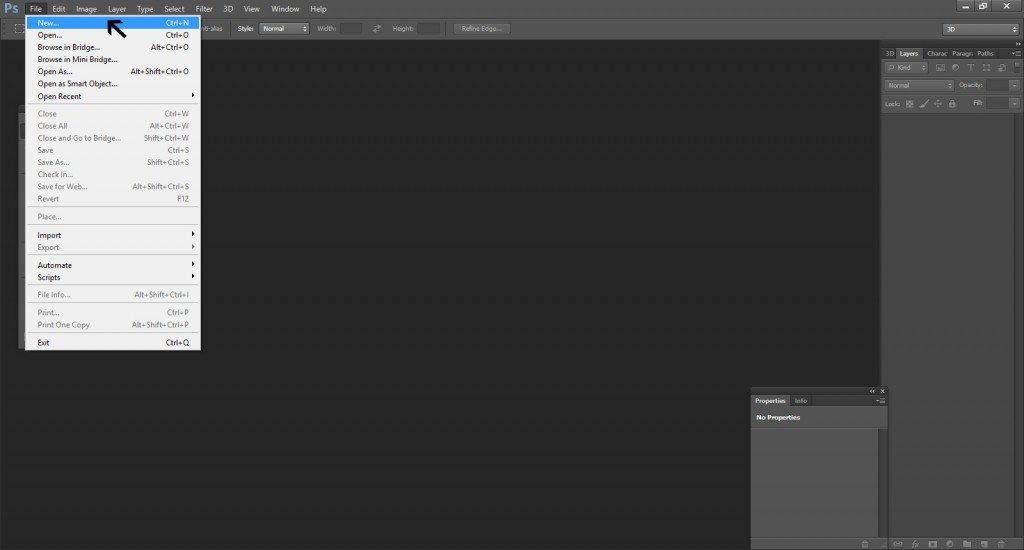 Step -1 (Create Apple Logo In Photoshop)