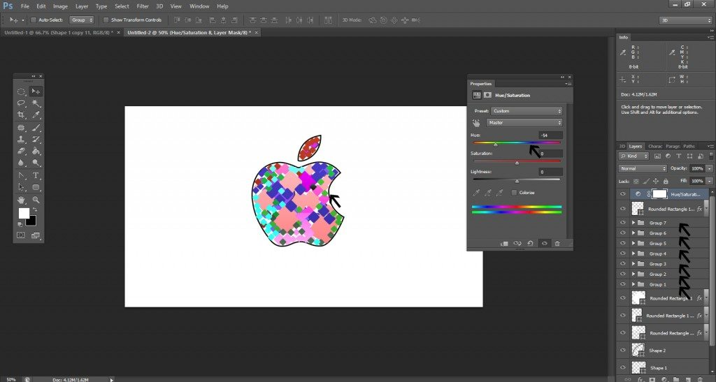 Step- 13 (Step to Create Apple Logo in Photoshop)