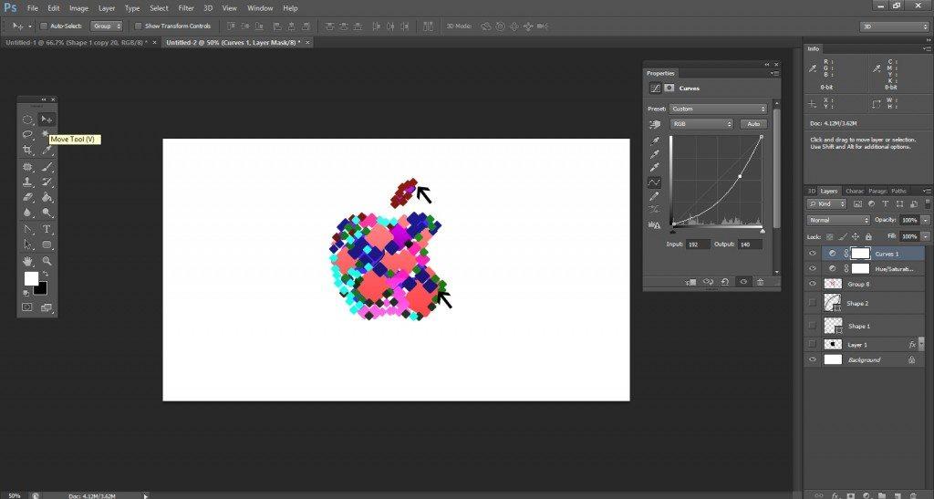 Step- 15 (Step to Create Apple Logo)