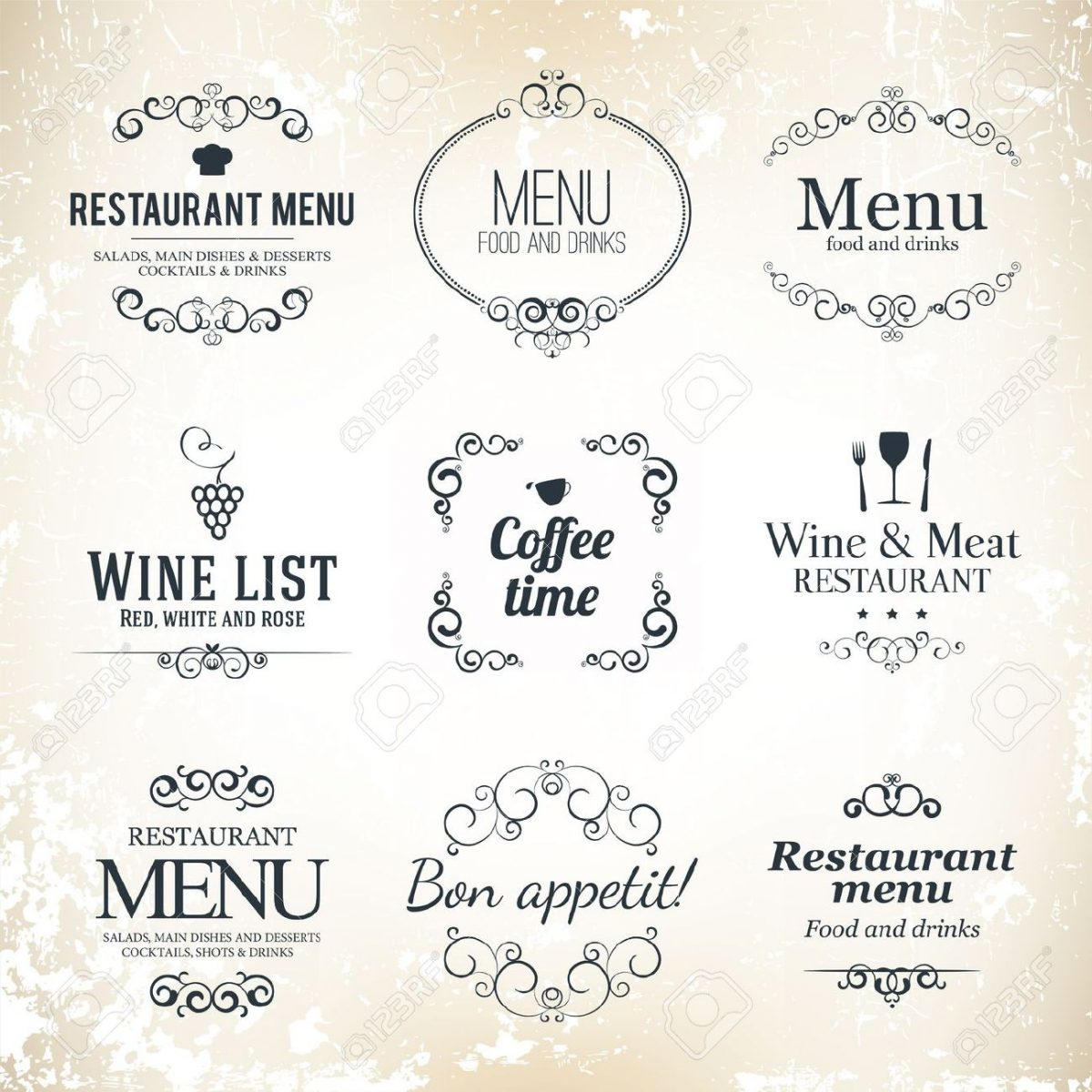 17989332-label-set-for-restaurant-menu-design-vintage-min