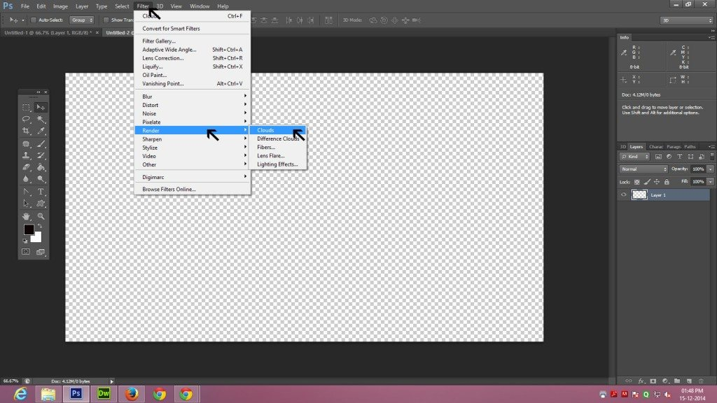 Step - 3 (Create 3D Blocks Background In Photoshop)