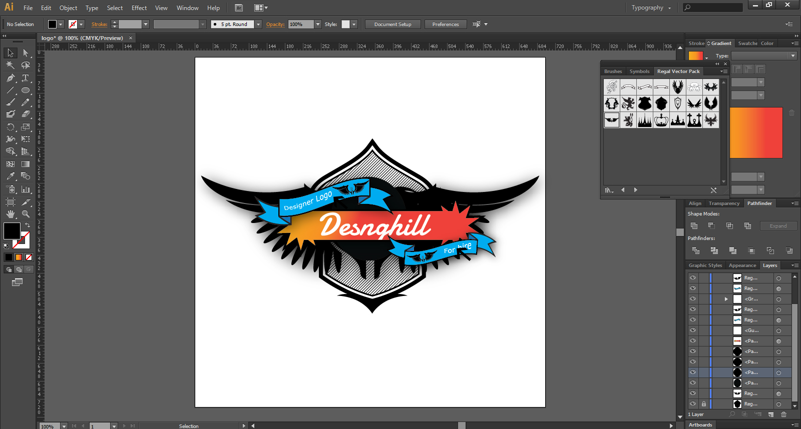 How to make a logo in illustrator for beginners